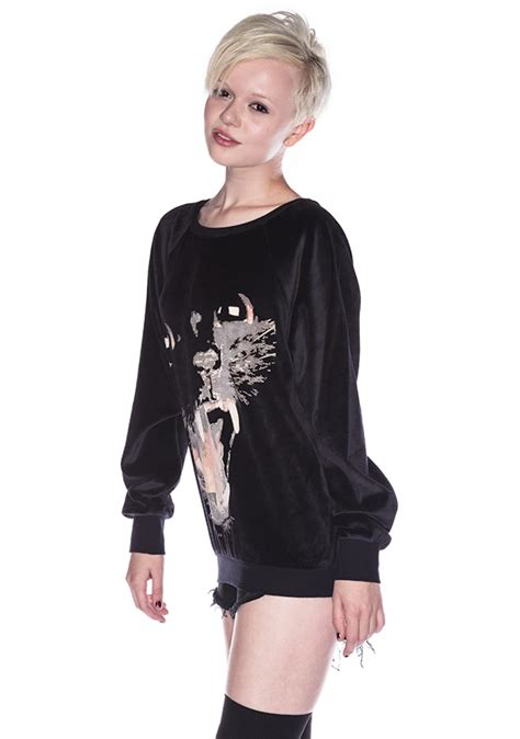 barcelona panther wildfox couture panther barcelona pullover dolls kill