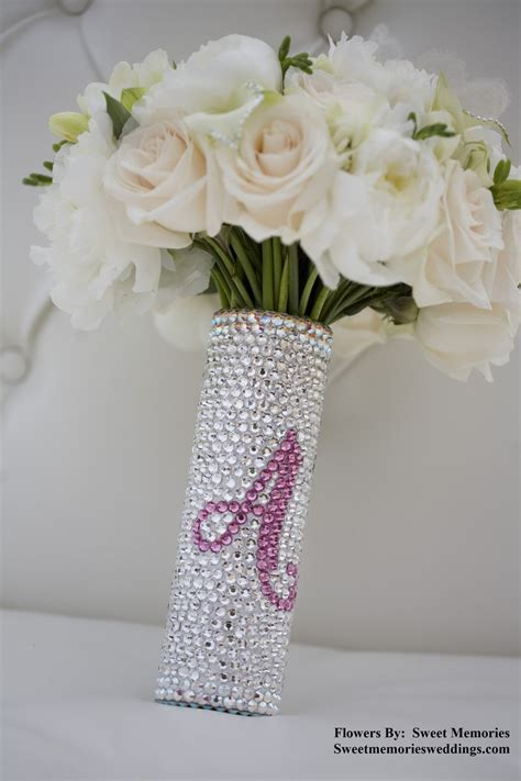 Wedding Bouquet Handle by Bridal Bouquet Handle Swarovski Bouquet Handle With
