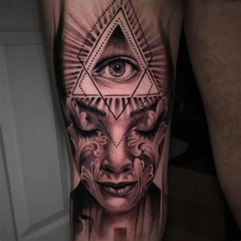 illuminati sleeve tattoo designs mysterious illuminati designs for best