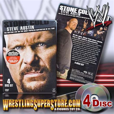 wwe biography dvds list wwe stone cold steve austin the bottom line 4 disc dvd
