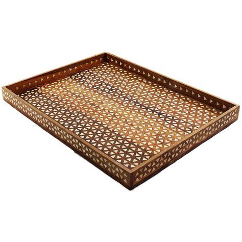 home decor trays harlequin decorative bone inlay wood tray roomattic