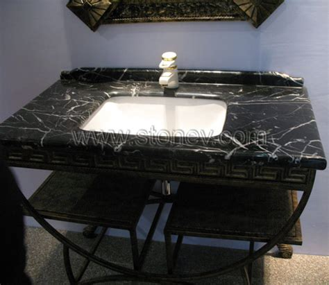 Black Bathroom Vanity With White Marble Top Marble Vanity Top Marble M080 Black White Vanity Tops And Sink For Bathroom