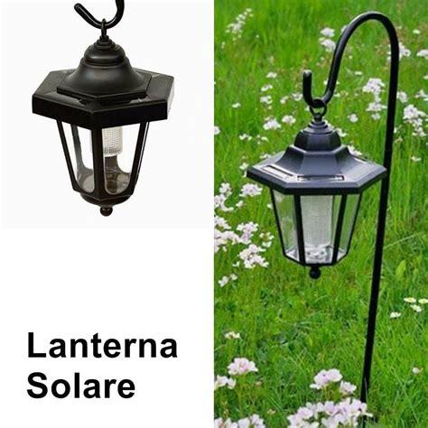 lanterna giardino lanterne da giardino led a energia solare con asta di supporto