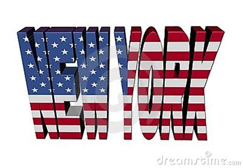 New York Text With American Flag Stock Photography Image