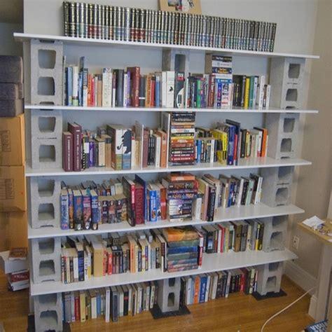 48 Best Concrete Block And Cinder Block Diy Furniture Block Bookshelves