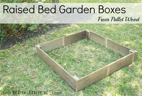 diy pallet raised bed pallet wood raised bed garden boxes brick house