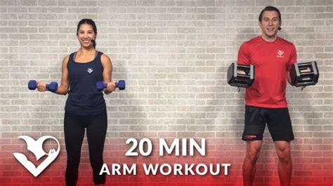 minute arms workout  home  dumbbells hasfit