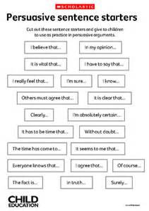 Persuasive Essay Exercise by Sentence Starters On Third Grade Writing Opinion Writing And Persuasive Writing