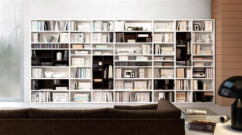 librerie basse moderne libreria componibile a parete systema p sololibrerie