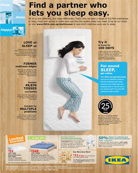 ikea singapore sale 2012 time 5 apr limited time deals 50 percent mattress pad or