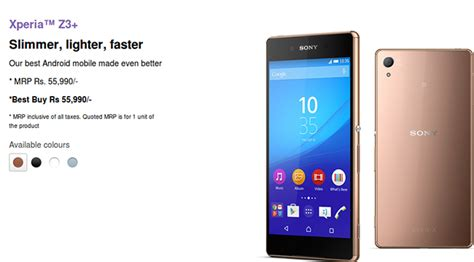 Sony Xperia Z3 Plus Aka Z4 Mulus 4g sony xperia z3 plus landed on indian shore costs rs 55 990
