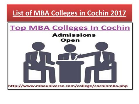 List Of Top Mba Colleges In Kerala by Ppt Choose Top Mba Colleges In Cochin According To Your