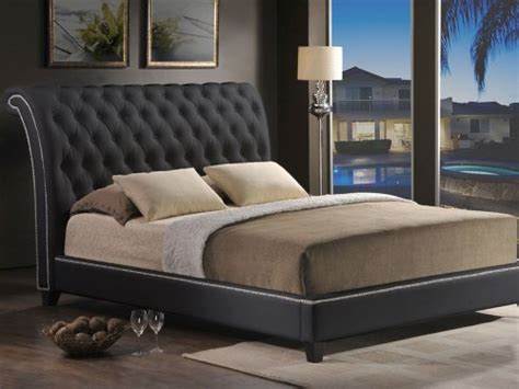 jazmin tufted modern bed with upholstered headboard baxton studio jazmin tufted modern bed with upholstered