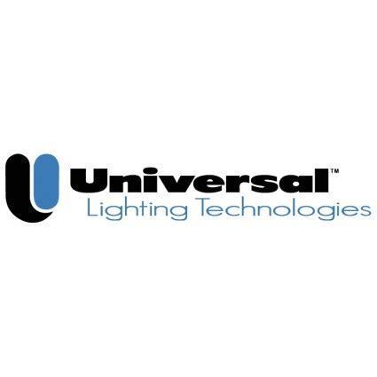 universal lighting technologies vector logo free vector