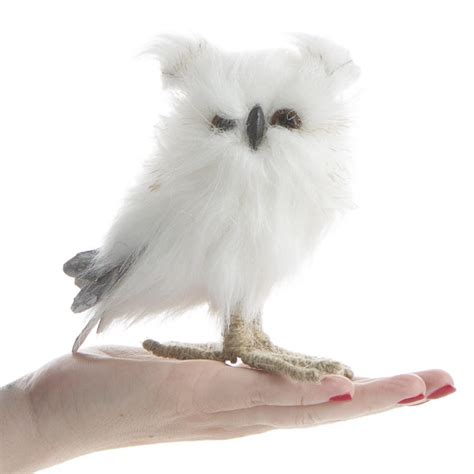 small white fluffy small white fluffy owl table and shelf sitters home decor wedding supplies