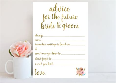 wedding shower for and groom advice for the and groom bridal shower printable