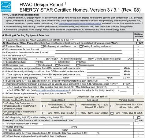 Hvac Design Brief Report | energy star hvac design report 4 heating cooling
