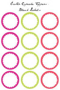 Template For Cupcake Toppers by Easter Cupcake Toppers Free Printables