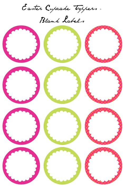 template for cupcake toppers easter cupcake toppers free printables