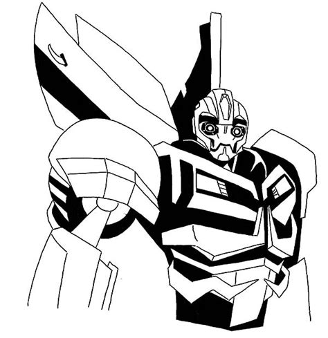 free coloring pages of bumble bee transformer
