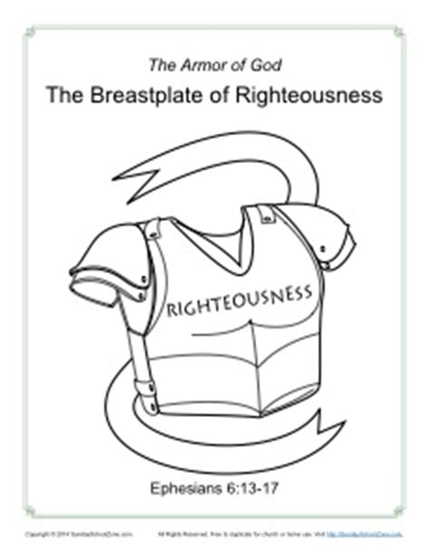 breastplate of righteousness template coloring belt of activity coloring pages