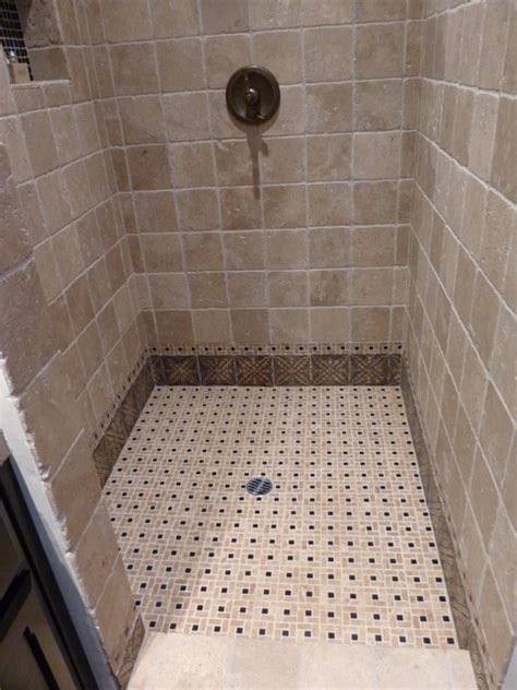 Ceramic Tile Designs For Bathrooms by Shower Floor