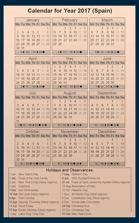 2018 Calendar With Holidays And Observances Calendar Of Holidays And Observances 2017 Calendar