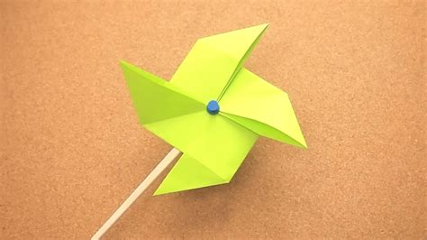 A Paper Pinwheel - how to make an origami pinwheel 11 steps with pictures