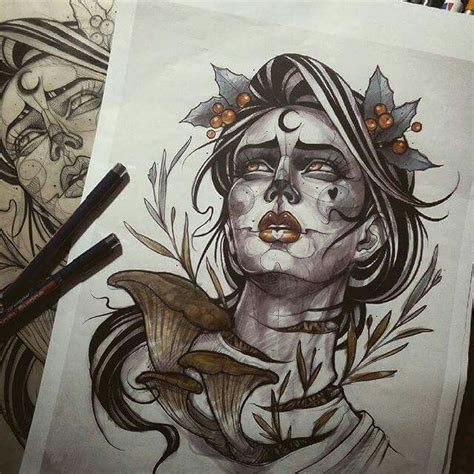 simple neo traditional tattoo 201 best neo traditional drawings images on pinterest