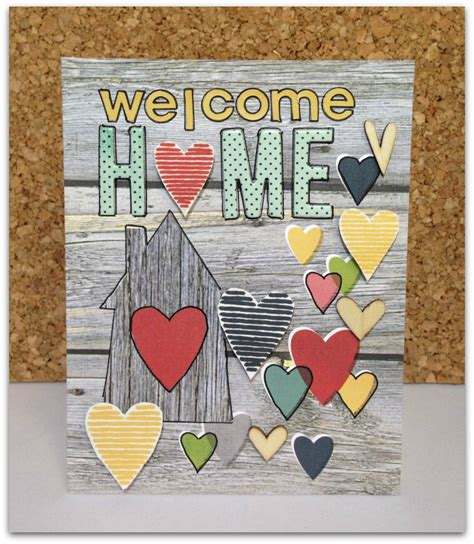 welcome home card scrapbook card using