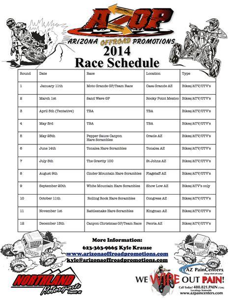 motocross race schedule 2014 2014 azop schedule moto related motocross forums