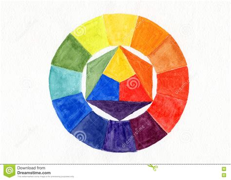 handmade color wheel watercolor handdrawn stock illustration image 75496030