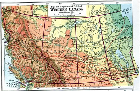 canadian map with coordinates western canada