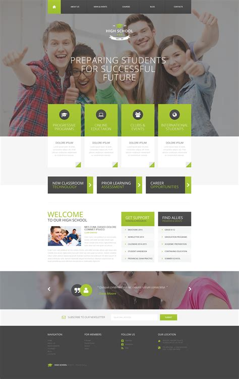 picture templates high school psd template