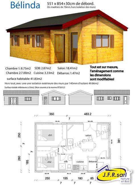 maison nature et bois 823 jfr nature bois plan du chalet en madriers b 233