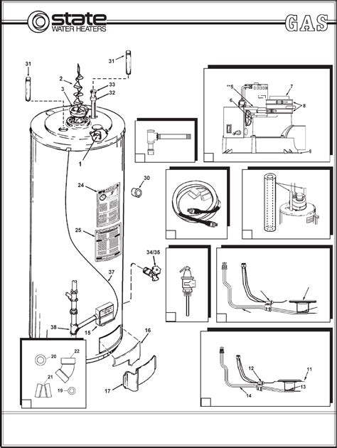 state electric water heater wiring diagram state just