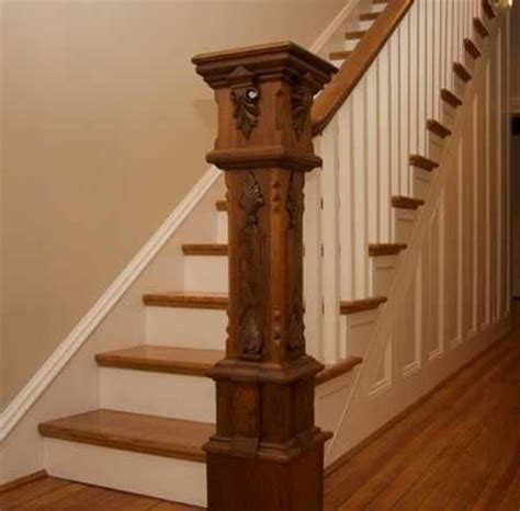 Stair Newel Post Detailed Newel Post Carved Stair Pics