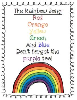 colors of the rainbow lyrics colors of the rainbow song rainbow colors song learn