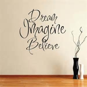 Lavender Color Bedroom Designs - dream imagine believe wall art design trendy wall designs