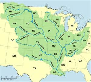 United States Map Mississippi River by United States Mississippi River Submited Images