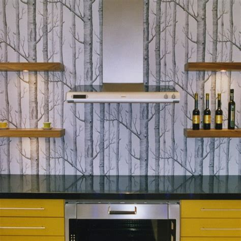 contemporary kitchen wallpaper ideas modern yellow and grey kitchen kitchen wallpaper ideas