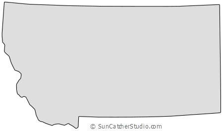 montana map outline printable state shape stencil