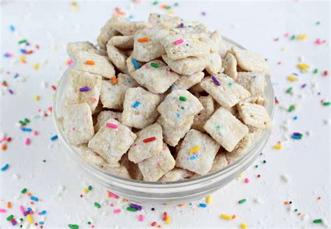 puppy chow snack recipe cake batter puppy chow