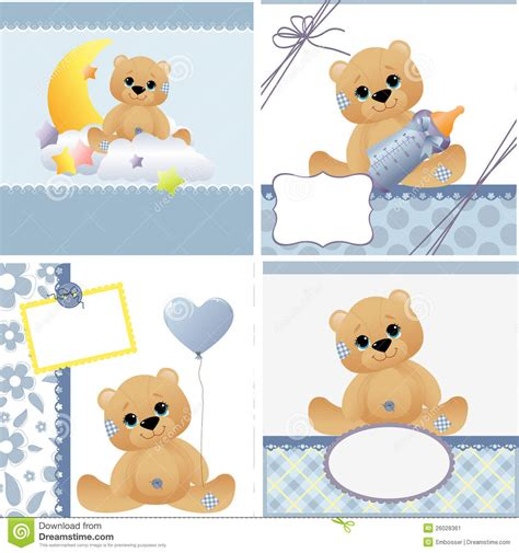 templates baby cards templates for baby card stock image image 26028361