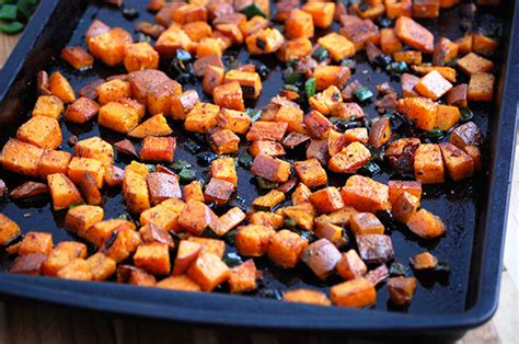 baked sweet potato home fries paleo grubs