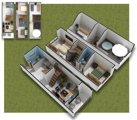 Tiny Home Floor Plan Ideas by Planos De Casas En 3d