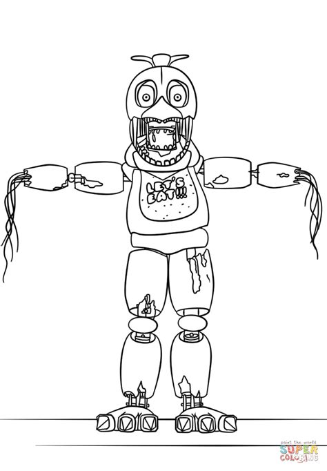 Fnaf 2 Coloring Pages by F Naf Coloring Pages Sketch Coloring Page