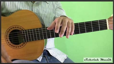 tutorial belajar gitar petikan belajar petikan gitar lagu hanya ingin kau tahu republik
