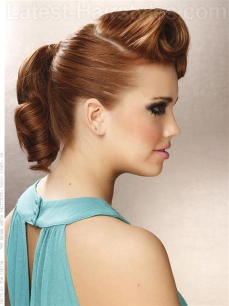 retro hairstyle updo short hair stunning updos for medium length hair 2 her101