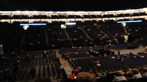 o2 section bk o2 arena london block 101 row v seat 43 youtube